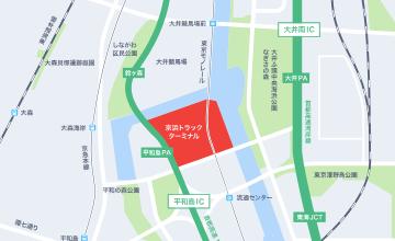 施設案内 - 京浜トラックターミナル(大田区平和島)|日本自動車 ...